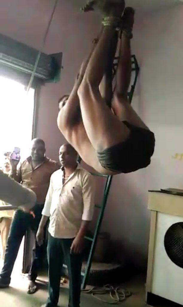 ट्रांसपोर्टर नेवाड़ी पुलिस स्टेशन के अंतर्गतकिया ड्राइवर का शारीरिकशोषण, वीडियो वायरल